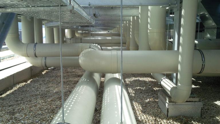 réseaux de ventilation plastique